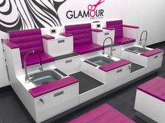 16 Ideas pedicure spa salon manicure station for 2019 Nail Salon Design, Nail Salon Decor, Hair Salon Interior, Salon Interior Design, Beauty Salon Design, Schönheitssalon Design, Design Ideas, Beauty Room Salon, Beauty Salons