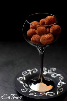 Chocolate Orange Truffles in glass