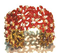 Kenneth Lane coral branch bangle