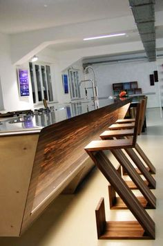 This fabulous kitchen design comes from the German manufacturer - Unikat. If you like ultra modern kitchen design – this is for you! Kitchen Furniture, Kitchen Interior, Wood Furniture, Furniture Design, Cheap Furniture, Furniture Buyers, Furniture Market, Furniture Online, Discount Furniture