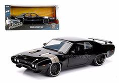 FAST & FURIOUS 8 - 1:24 1972 DOM'S PLYMOUTH GTX BLACK 98292 BLACK BY JADA - Diecast Model Cars