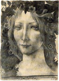 """Drawing by Horst Jansen    """"Ich kann nur zeichnen, was ich liebe.""""  """"I can only draw what I love"""""""