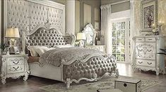 Versailles VINTAGE GRAY 5Pc Queen Bedroom Set By Acme 21150Q