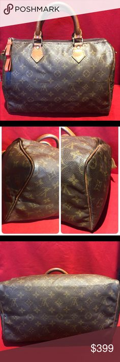 Louis Vuitton Speedy 30 Louis Vuitton Vintag Speedy 30 - No Holes or tears on Monogram Canvas, Scuffs at the corners, Piping are intact, Patina Leather, clean inside with minor Ink writings, Original stitches coming off due to Age, Zipper been replaced but Zipper pull missing and I provide something as zipper pull and it works perfectly! This is a Vintage Purse made in 1982!! SUBMIT BEST OFFER! Louis Vuitton Bags Satchels