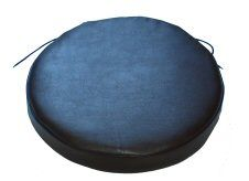Set Of 2 Round Faux Leather Seat Pads In Blue | Round Seat Pads, Circular Seat  Cushions, Round Seat Pads With Ties, Bistro Chair Seat Pads | Pinterest