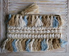 Natural Raffia Clutch, Tassel Clutch, Shell Embellishment, Boho Clutch