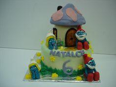Dort šmoulí domeček | Fotogalerie | Sladký MÉĎA - cukrárna trošku jinak Birthday Cake, Desserts, Food, Tailgate Desserts, Deserts, Birthday Cakes, Essen, Postres, Meals