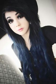 Yes this is the navy blue I want my hair to be it looks black but in the light it's clearly blue
