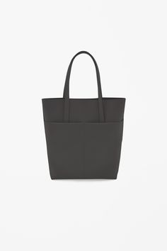 Coated leather tote