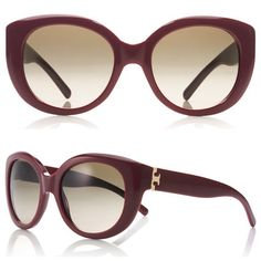 Tory Burch Oversized Sunglasses Tory Burch oversized round sunglasses. Cabernet color. Gold logo. Includes original orange Italian leather case + cinch sleeve. Excellent like NEW condition! Tory Burch Accessories Sunglasses