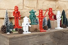 Have your nutcrackers cracked too many nuts? Bring them back to life with spray paint.