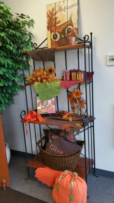 Our Beautiful Fall Display at Signature Homestyles Home Office. You can see these items as well as more of our Beautiful Home and Fall Decor in my Annual and Fall/Christmas Catalogs at: www.signaturehomestyles.biz/geriimbrogno