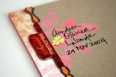 like the handwriting over the stamped element...would be lovely for addressing care packages  :)