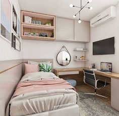 ★ Tiny Bedroom Decor For Tiny Houses Bedroom Decor For Teen Girls, Room Ideas Bedroom, Small Room Bedroom, Home Decor Bedroom, Tiny Girls Bedroom, Bedrooms Ideas For Small Rooms, Tiny Bedrooms, Small Bed Room Ideas, Bedroom Ideas For Small Rooms Women