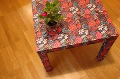 impermeabilizar una tela- idea 2 - mesa Recycled Furniture, Decoupage, Diy And Crafts, Recycling, Home Decor, Style, Hacks Ikea, Textiles, Tips