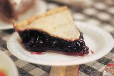 Blueberry pie at Yoder's Restaurant in Georgia. #blueberrypie #pie #dessert
