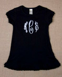 Monogram Dress by ThreeMonkeysUnique on Etsy, $24.00
