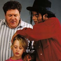 Michael Jackson, George Wendt and Macaulay Culkin