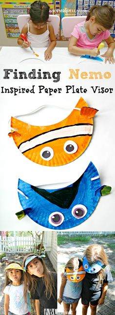 Finding Nemo Movie Inspired Paper Plate Visor Hat for Kids - abccreativelearning.com