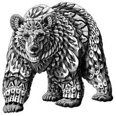 Ornate Bear Art Print                                                                                                                                                      Mehr