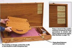 31-dp-00552 - Rockin Knockdown Heirloom Cradle Downloadable Woodworking Plan PDF…
