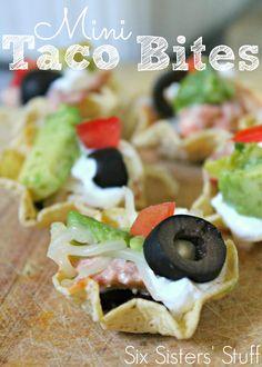 Mini Chicken Taco Bites