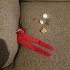 Looking through the cushions for change. #elfontheshelf