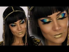 Cleopatra Egyptian Goddess Halloween MakeUp Tutorial | Shonagh Scott | ShowMe MakeUp - YouTube