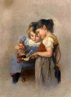 Consolation In Suffering Mother And Child Forest Nymph Aye Aye Captain Hansel and Gretel In The Forest The Drawing Lesson Darning Stockings Sweet Music Affection At The Footbridge Young Gir…