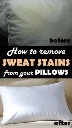 How to remove sweat stains from your pillows - Cleaning Ideas - Make your cleaning ritual easier