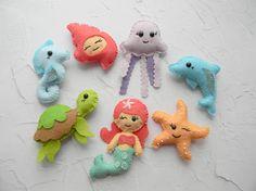 Kawaii Baby Sea Creatures ornament Under the sea decoration