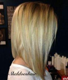 (Long bob haircut) I want to cut my hair like this. Just not sure if I'm ready to cut my long hair Cut My Hair, Love Hair, Great Hair, Gorgeous Hair, Hair Cuts, Thin Hair, Straight Hair, Long Angled Bob Hairstyles, Bob Haircuts