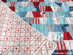 Saltwater Quilts: Tumblers Beach Bound    Tumbler quilts are my favorite!!