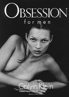 Kate Moss, Calvin Klein, Obsession for menin 1993