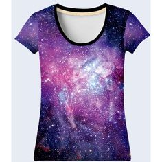 Galaxy T Shirt, Space Shirt, Purple Tee Shirt, Tee, Womens Shirts,... ❤ liked on Polyvore featuring tops, t-shirts, t shirt, purple t shirt, multi color t shirts, galaxy shirt and tie shirt