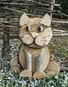Rustic Wood Crafts, Fall Wood Crafts, Diy Crafts For Home Decor, Farm Crafts, Easy Small Wood Projects, Diy Wood Projects, Woodworking Projects, Wood Animal, Tree Carving