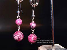 Ellys Shop: Cercei agata rain flower No Rain No Flowers, Handmade Jewelry, Drop Earrings, Shopping, Chandelier Earrings, Diy Jewelry, Craft Jewelry