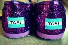 Toms Glitter Purple shoes
