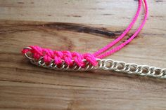 The Forge: diy: neon and gold fashion bracelet