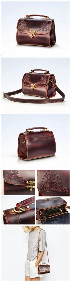 Womens Leather Messenger Bag, Leather Shoulder Bag, Leather Handbag, Crossbody…