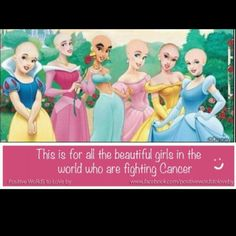 Disney supporting kids with cancer.......stay strong to the people that are fighting cancer! You can do this