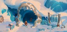 Ice World by Andrey Egorov, via Behance