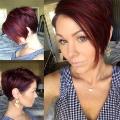 #redhair #pixie #shorthair More