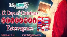 Baby Gizmo's 12 days of Christmas giveaway!  If you don't already, you need to follow on Facebook, Pinterest, and YouTube!! Ms. Hollie and her family are great.