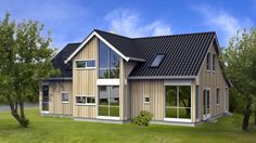 Hus Opal-Lux - Moderne - HIBA HUS Modern Farmhouse, Opal, House Plans, Shed, Outdoor Structures, Architecture, Interior, Color, Design