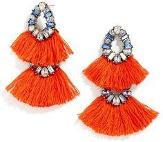 BaubleBar 'Ferebee' Tassel Drop Earrings available at Red Jewelry, Tassel Jewelry, Statement Jewelry, Crystal Jewelry, Crystal Earrings, Fashion Jewelry, Women Jewelry, Jewellery, Stone Jewelry