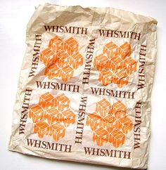 WHSmith Paper bag form the 1980s - remember this?