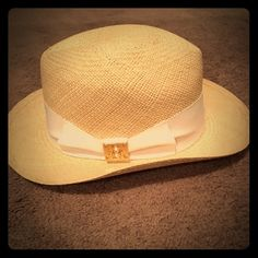 Authentic Tory Burch fedora hat Sold-Sold!! New- never worn. Tag has been removed but hat hasn't been worn. Great deal! Perfect for spring or summer! Tory Burch Accessories Hats