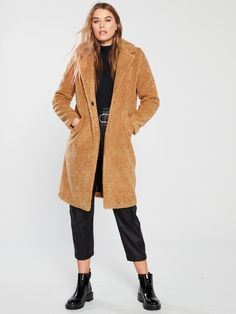 Trousers from all of your favourite brands. Buy today and spread the cost with a flexible account at LittlewoodsIreland. Teddy Coat, River Island, Latest Fashion, Layers, Brown, Jackets, Shopping, Tops, Layering