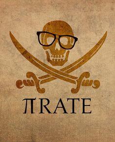 Pirate Math Nerd Humor Poster Art by Design Turnpike - Mathe Ideen 2020 Humour Geek, Nerd Jokes, Nerd Humor, Pi Jokes, Math Memes, Math Humor, Calculus Humor, Funny Math Puns, Biology Humor